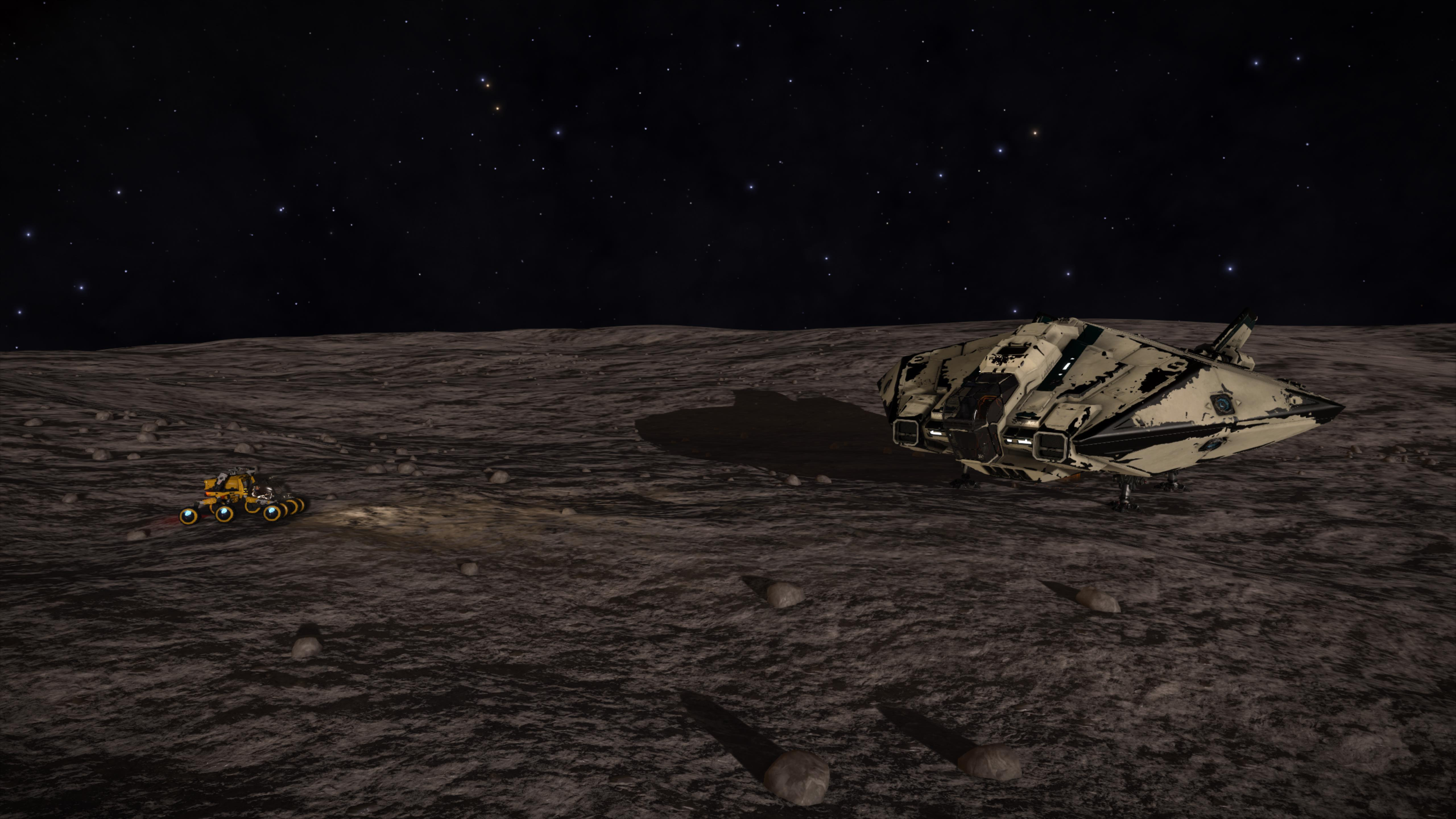 CMDR Head_Case in his SRV on planet A1 at Waypoint 10