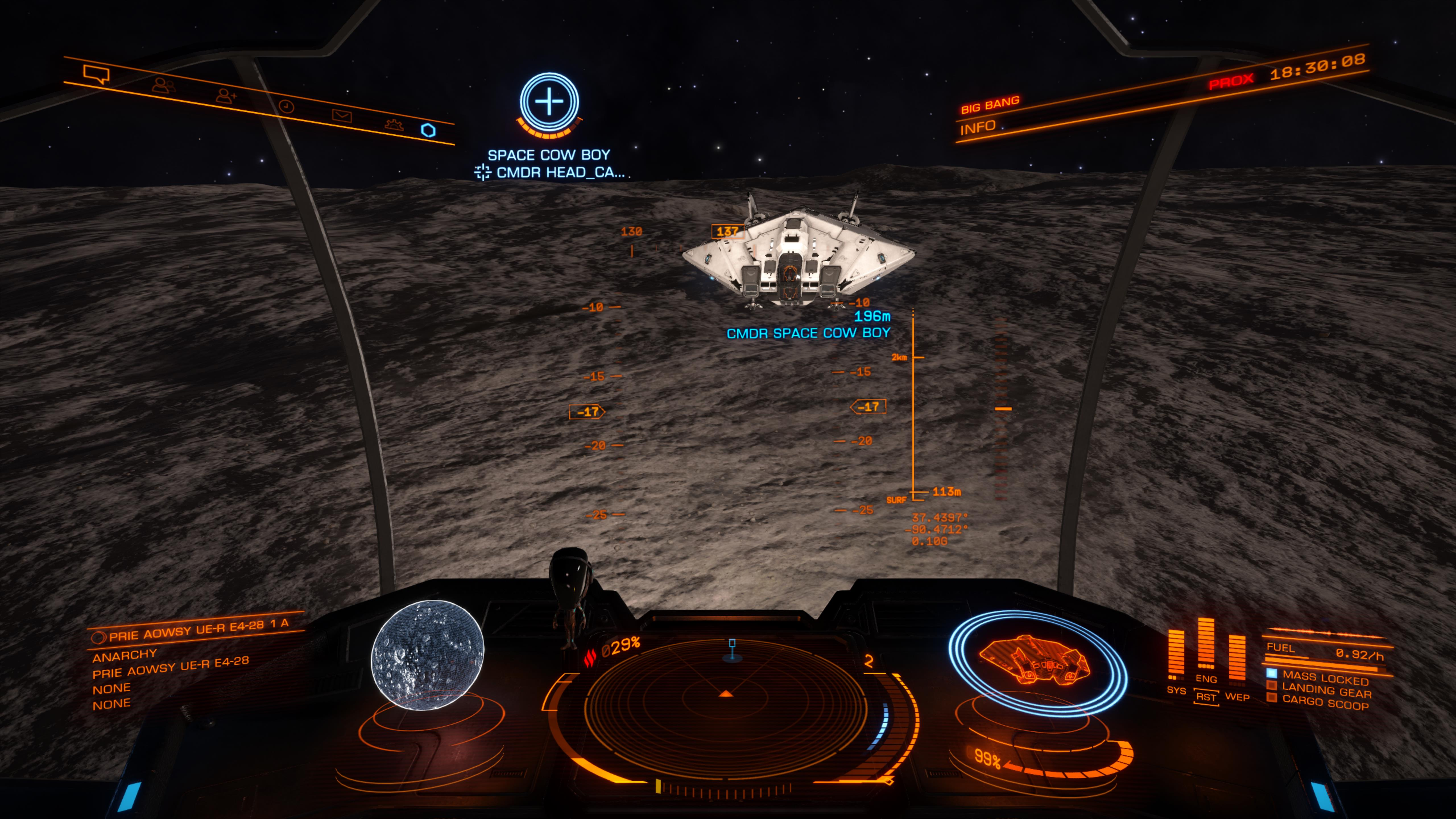 One last wave out of the cockpit before we set off towards Sagittarius A*